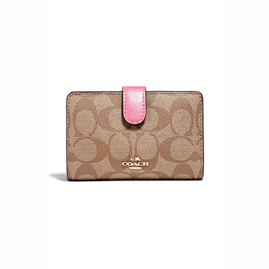 กระเป๋าสตางค์ COACH F23553 MEDIUM CORNER ZIP WALLET (IMCMY) [MCF23553IMCMY]