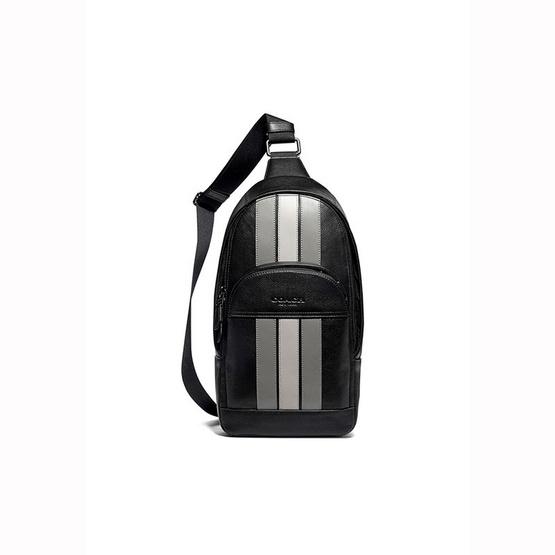 กระเป๋า COACH F73344 HOUSTON PACK WITH VARSITY STRIPE (QBOUL) [MCF73344QBOUL]
