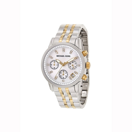 นาฬิกา Michael MK5057 Women's Two Tone Chronograph Watch [MCMK5057]