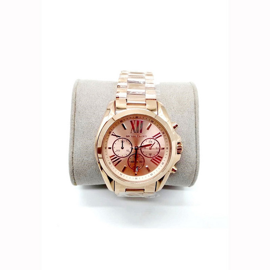 นาฬิกา Michael MK5503 Bradshaw Oversize Chronograph Rose Gold-tone Ladies Watch [MCMK5503]