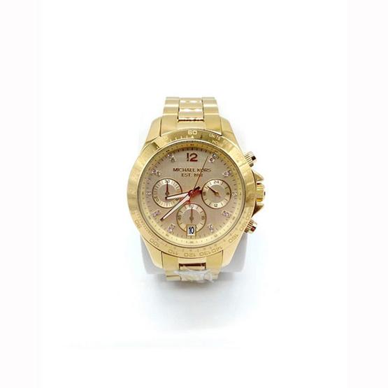นาฬิกา Michael MK5531 Layton Ladies Gold Tone Women's Chronograph Watch [MCMK5531]