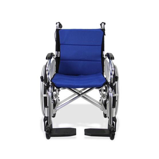 Fasicare TAVEL รถเข็นผู้ป่วยอะลูมิเนียมอัลลอย รุ่น FAL-118BL เบาะสีน้ำเงิน ถอดซักได้