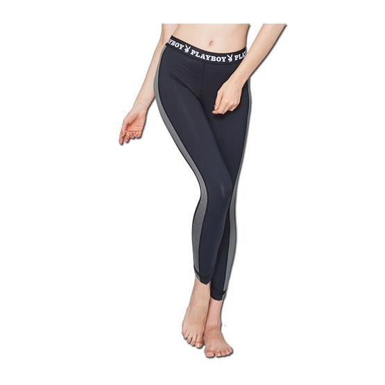 เพลย์บอย อินทิเมท กางเกงเลคกิ้งขายาว สีดำ