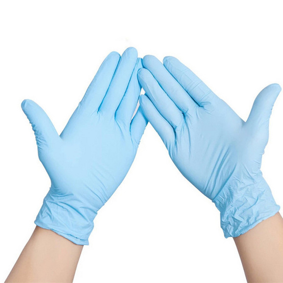 โพลี-ไบรท์ ถุงมือยางไนไตร 10ชิ้น x 2ซอง (Size M)