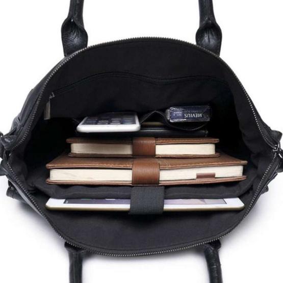 Osaka กระเป๋าถือผู้ชาย สีเรียบ รุ่น หนัง PU รุ่น NE545 - สีดำ