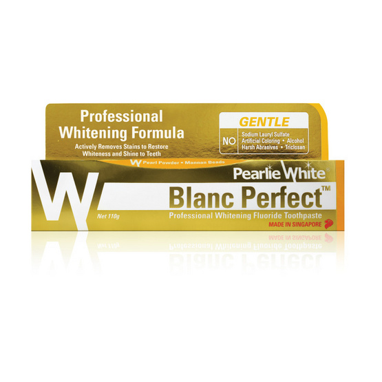 PEARLIE WHITE ยาสีฟัน BLANC PERFECT WHITENING FLUORIDE 110g.