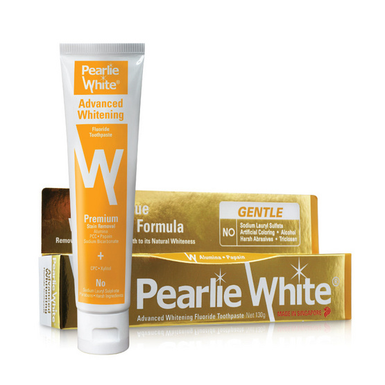 PEARLIE WHITE ยาสีฟัน ADVANCED WHITENING FLUORIDE 130g.