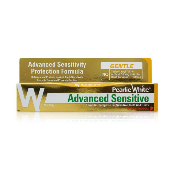 PEARLIE WHITE ยาสีฟัน ADVANCED SENSITIVE FLUORIDE 130g.