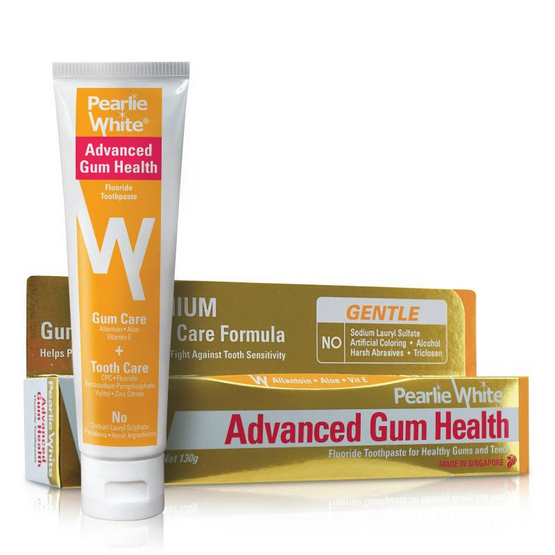 PEARLIE WHITE ยาสีฟัน ADVANCED GUM HEALTH FLUORIDE 130g.