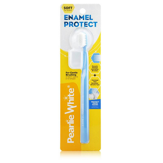 PEARLIE WHITE แปรงสีฟัน ENAMEL PROTECT ADULT SOFT(คละสี)