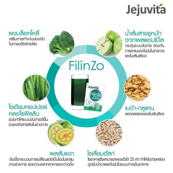 Jejuvita Filinzo 15000 mg. บรรจุ 15 ซอง
