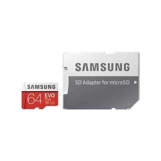 Samsung เมมโมรี่ MicroSD Card 64GB รุ่น Evo Plus