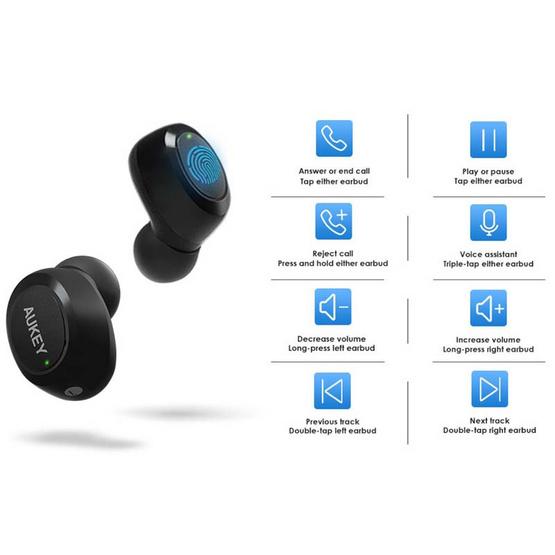 Aukey หูฟังบลูทูธแบบ True Wireless รุ่น EP-T16S