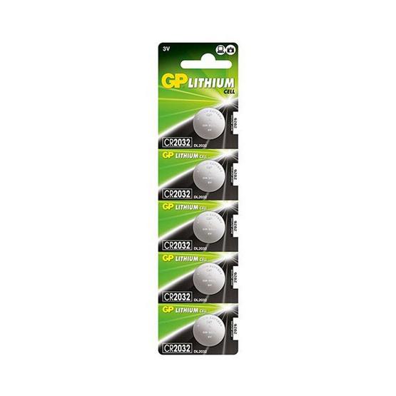 GP ถ่านเม็ดกระดุม รุ่น Lithium Button Cell no.2032 5 ก้อน