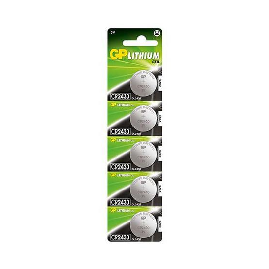GP ถ่านเม็ดกระดุม รุ่น Lithium Button Cell no.2430 5 ก้อน