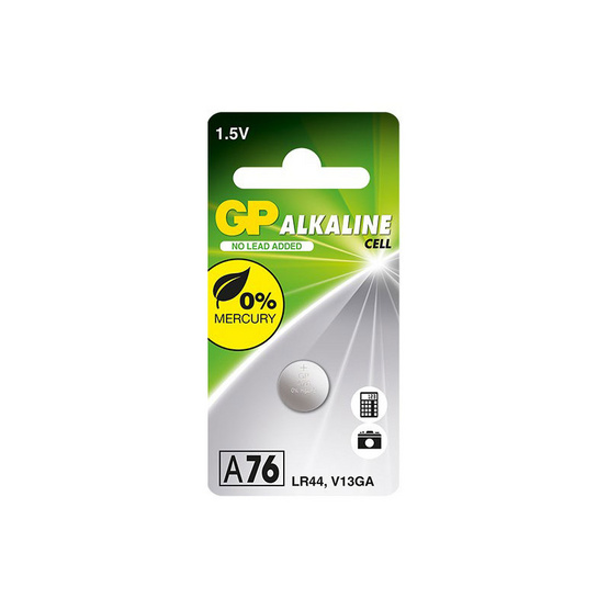 GP ถ่านเม็ดกระดุม รุ่น Alkaline Button Cell no.A76 1 ก้อน