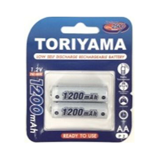 Toriyama ถ่านชาร์จ รุ่น AA1200 Pack 2