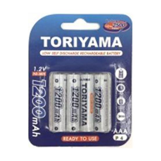 Toriyama ถ่านชาร์จ รุ่น AA1200 Pack 4