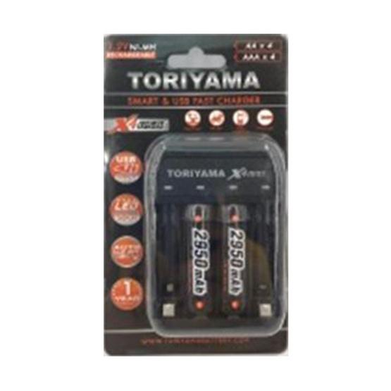 Toriyama แท่นชาร์จ+ถ่านชาร์จ รุ่น AA2950 Pack2