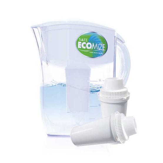 Safe เหยือกกรองน้ำ Ecomize + ไส้กรองน้ำ Ecomize 2 ชิ้น