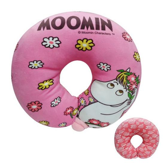 Moomin หมอนรองคอสน็อกไมเดน สีชมพู