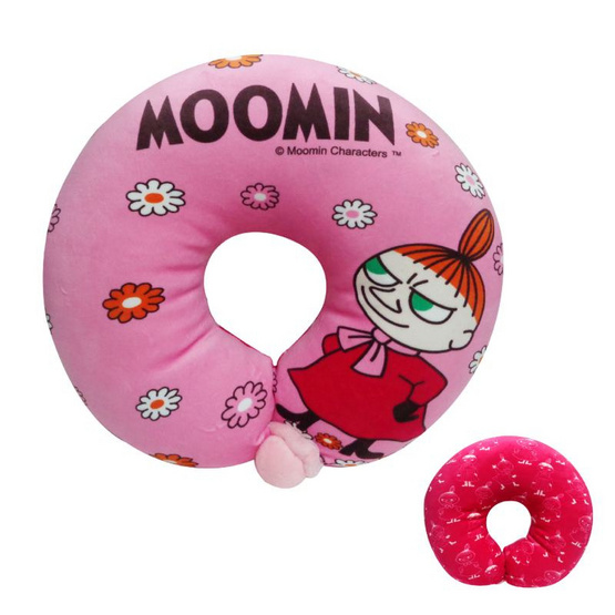 Moomin หมอนรองคอลิตเติ้ลมาย สีชมพู