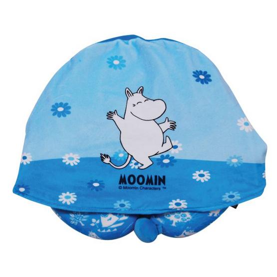 Moomin หมอนรองคอมีฮู้ดมูมิน สีฟ้า