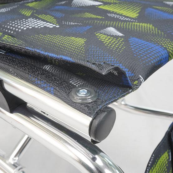 Fasicare TAVEL รถเข็นผู้ป่วยอะลูมิเนียมอัลลอย รุ่น FAL-115CF เบาะสีดำเขียว ฟรี!กระเป๋า