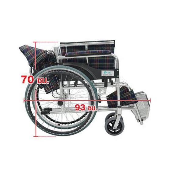 Fasicare TAVEL รถเข็นผู้ป่วยอะลูมิเนียมอัลลอย รุ่น FAL-120PV สีม่วงตัดแดง ล้อหลัง 22 นิ้ว