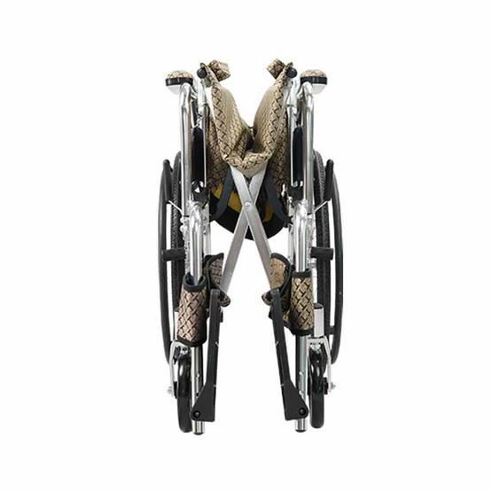 Fasicare TAVEL ทาเวล รุ่น FAL-121GL รถเข็นผู้ป่วยอะลูมิเนียมอัลลอย สีน้ำตาลทอง พับพนักพิงหลังได้ ล้อหลัง 20 นิ้ว