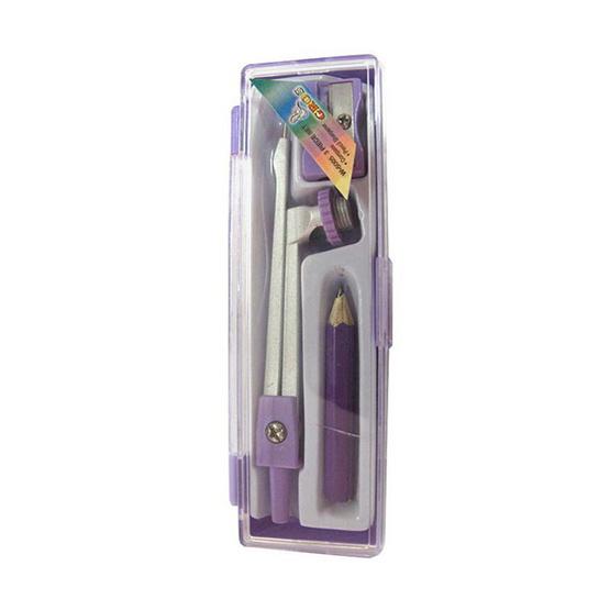 GROS ชุดวงเวียนพร้อมดินสอไม้+กบเหลา (คละสี)