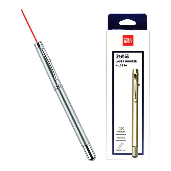 Deli 3934 ปากกาเลเซอร์ 3in1 แบบยืดได้
