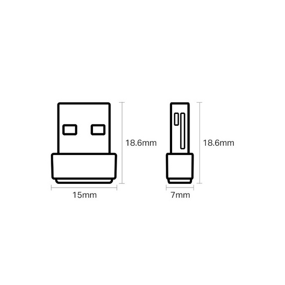 TP-Link USB อแดปเตอร์ รุ่น Archer-T2U NANO AC600 Dual Band High Gain Wireless