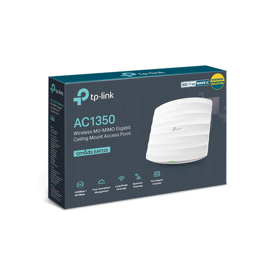 TP-Link Access Point EAP225 AC1350 Wireless Dual Band Gigabit Ceiling Mount
