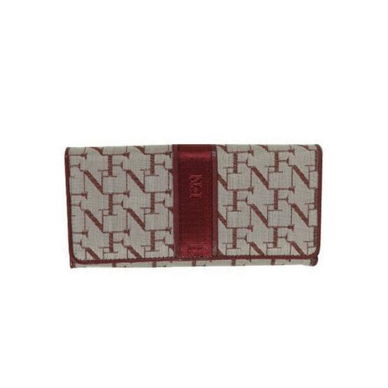 FN BAG BY FLYNOW กระเป๋าสตางค์สำหรับผู้หญิง 1308-24-013-065 สีแดง