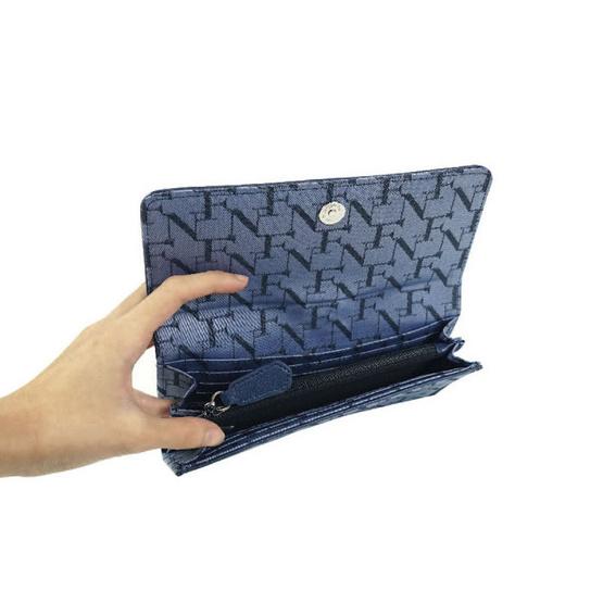 FN BAG BY FLYNOW กระเป๋าสตางค์สำหรับผู้หญิง 1308-24-013-088 สีน้ำเงิน