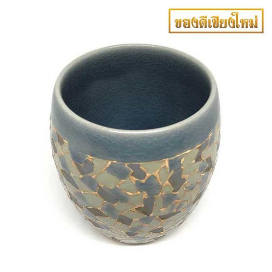 ChiangMai Celadon แก้วป่องกลางศิลาดลโมเสค