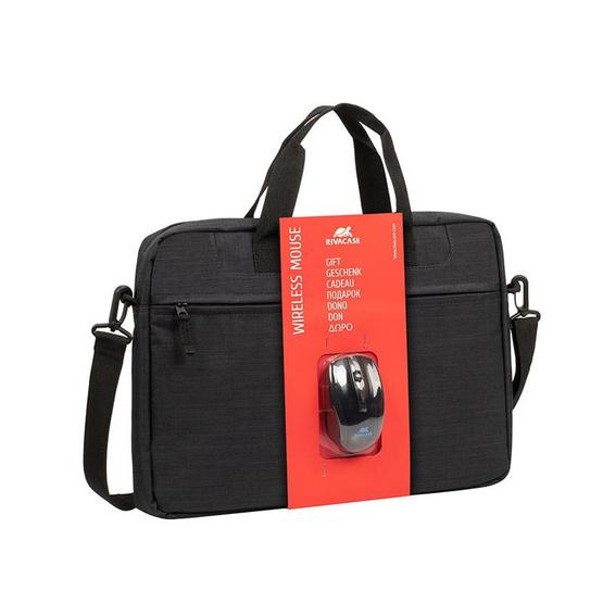 "Rivacase กระเป๋าโน๊ตบุ๊ค รุ่น Bundle 8038 Laptop bag 15.6""+Wireless mouse"