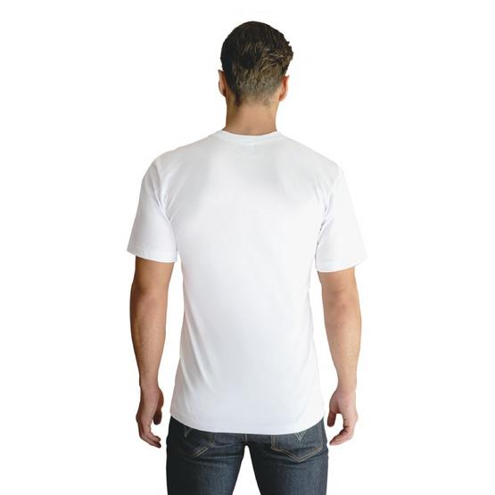 Double Goose ตราห่านคู่ เสื้อยืดคอกลม รุ่นคลาสสิก สีขาว แพ็ค 3 ตัว
