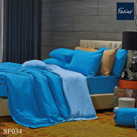 Facino ชุดผ้าปูที่นอน+ผ้านวม SF034