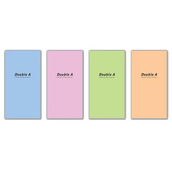 Double A สมุดมุงหลังคาProfessional 90x160mm. 70แกรม 24แผ่น คละลาย(แพ็ค12เล่ม)