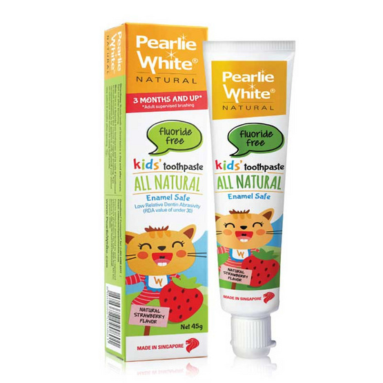 Pearlie White All Natural Enamel Safe Kids Toothpaste