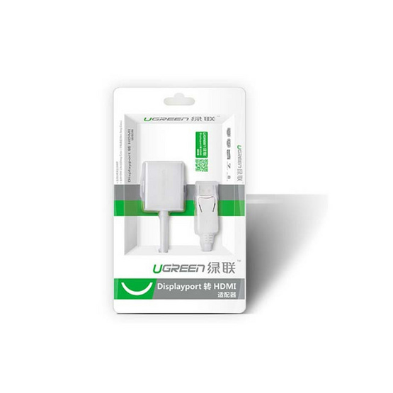 UGREEN รุ่น 20411 ตัวแปลงสัญญาณ DP male to HDMI female converter cable