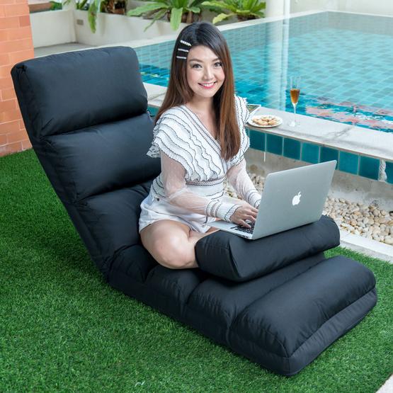 เก้าอี้นั่งพื้น รุ่น อีลีแกน สีดำ
