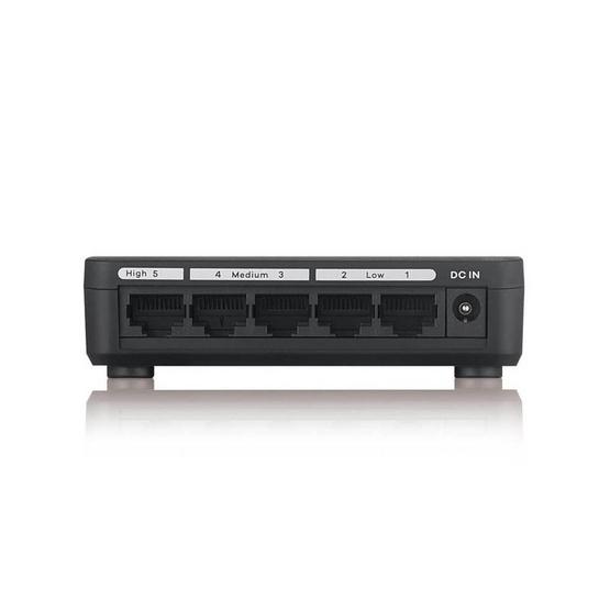 Zyxel สวิชต์ รุ่น GS-105S v2 5-Port Desktop Gigabit Ethernet Media Switch