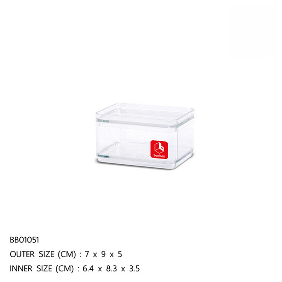 BOXBOX กล่องเหลี่ยมใส 190 มล.