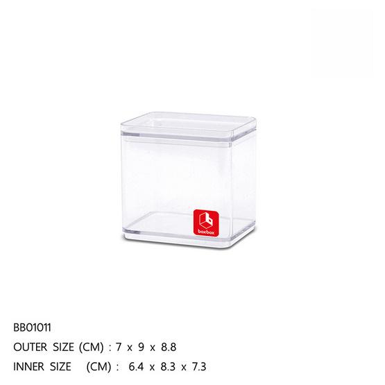 BOXBOX กล่องเหลี่ยมใส 395 มล.