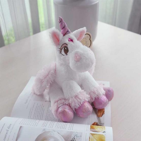 Unicorn ตุ๊กตาม้ายูนิคอร์น สีชมพูอ่อน 8 นิ้ว