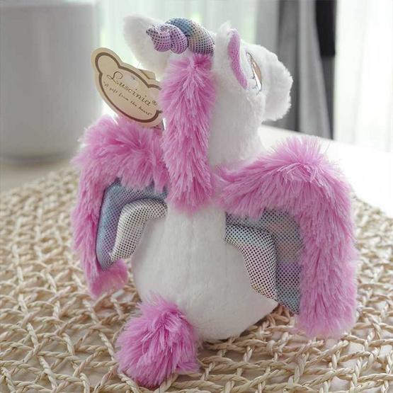 Unicorn ตุ๊กตาม้ายูนิคอร์น สีม่วง 10 นิ้ว