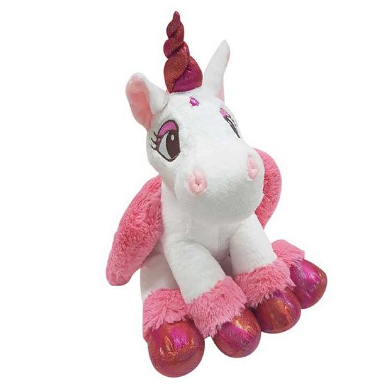 Unicorn ตุ๊กตาม้ายูนิคอร์น สีชมพูเข้ม 12 นิ้ว